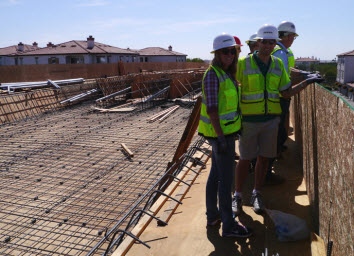 ASCE/CI's Student Days construction site field trip