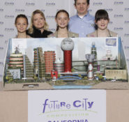 At the National Engineers Week Future City finals in Arlington, VA, Girl Scout Troop 2225 from Modesto, CA , won ASCE's Most Innovative Design of Infrastructure Systems award