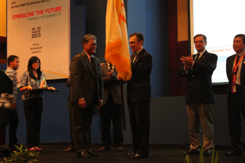 CECAR 6 conference in Jakarta concluded with a ceremonial flag handoff to ASCE President Gregory DiLoreto