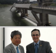 2013 ASCE President Greg DiLoreto visited the striking Paldang Dam. He also presented Korean Society of Civil Engineering President Jongsung Sim with a plaque commemorating the visit