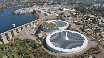 Aerial view of the Alvarado Water Treatment Plant
