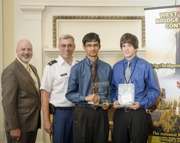 For the second straight year, West Virginia high school students Aniket Zinzuwadia and Nick Bartusiak are winners of the West Point Bridge Design Contest sponsored by ASCE.