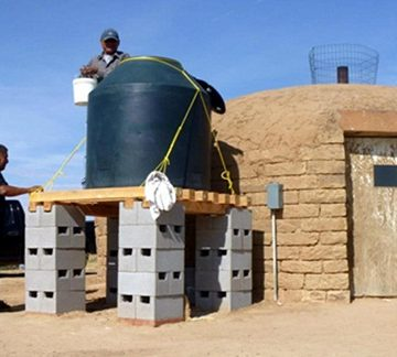 The Black Mesa Water and Sanitation Project in Black Mesa, Arizona, is one of the pilot projects conducted as part of the Community Engineering Corps initiative.