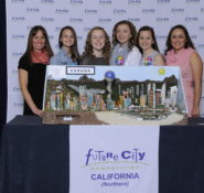 """The girls are just so very creative,"" says civil engineering mentor Evangelina Paoluccio, P.E., an associate engineer with NV5. ""They brought their ideas to paper, built their model, and everything just came together."""
