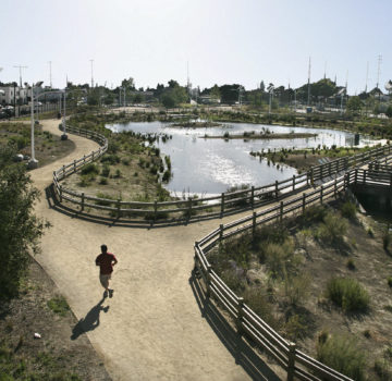 The South Los Angeles Wetland Park  remediated  an urban brownfields site.   Photo courtesy Psomas