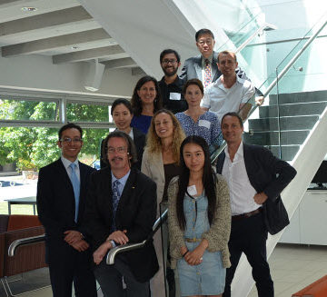 Members of the ASCE sponsored recon team stand along with researchers and students from the University of Canterbury in Christchurch. Front row from left; Leonardo Duenas-Osorio, Craig Davis, and Melanie Liu (student) ; second row from left, Su Young Ko (student), Sonia Giovinazzi (researcher), and Paolo Franchin, third row from left Rachel Davidson and Deirdre Hart (researcher); fourth row from left, Indy Kongar (student) and  David Holland (student), and top, Alex Tang.
