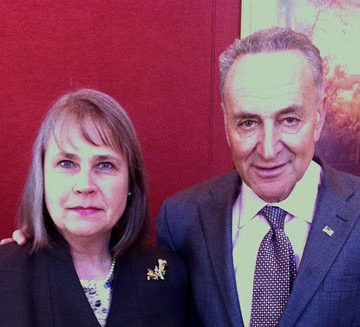 Theresa Harrison, P.E., EVN SP, M.ASCE, left, began her year-long ASCE Congressional Fellowship in the office of New York Senator Charles E. Schumer on January 6. Photo Credit: Theresa Harrison