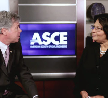Gabriele Mack, vice president for business inclusion and supplier diversity at Jacobs, talks with ASCE's Casey Dinges.