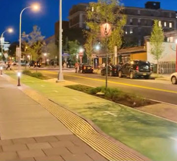 Onondaga County, NY's comprehensive stormwater management plan has aesthetic as well as environmental benefits, including additional trees and permeable-paved bike paths.