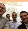 President Stevens with Dr. Sameh El-Sayeh and Majed Shoman