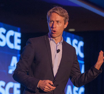 Luke Williams speaks during the ASCE 2015 Convention opening plenary. PHOTO: David Hathcox for ASCE