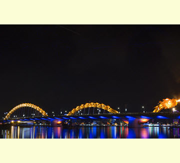 The Dragon Bridge in Da Nang, Vietnam. Photo courtesy Louis Berger