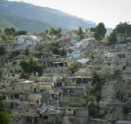 Buildings devastated by the  earthquake that struck Haiti in 2010. Photo: Justin Marshall