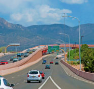The I-25/Paseo del Norte Interchange in Albuquerque, NM. Photo courtesy Bohannan Huston Inc.