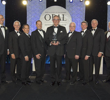 The team behind the Charles Pankow Award for Innovation winning design methodology. Photo by David Hathcox for ASCE