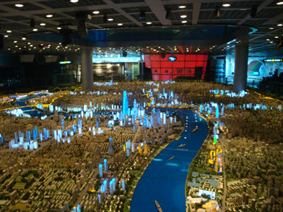 The model of Shanghai in the Urban Planning Museum,