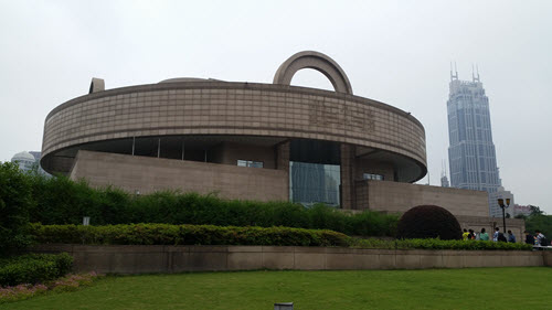 The exterior of the Shanghai Museum.