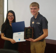 Two student chapter presidents meet – Nathan from Purdue University and Tongji University's Dehui Lin.