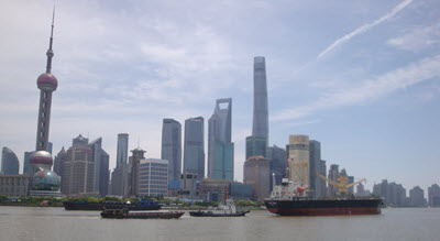 The Shanghai skyline.