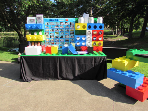 The ETS Lego-themed display.