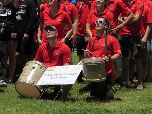The ETS team traveled everywhere behind a pair of drums throughout the NCCC.