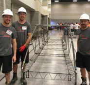 The ETS steel bridge team took first place in the national competition for the first time in school history.