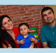 The Haddad family - Kristel, Max, and Serge.