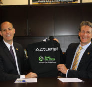 ASCE Executive Director Tom Smith and Smart City Works co-founder Gregory Sauter.
