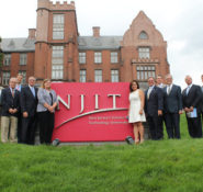 At the New Jersey Institute of Technology, winners in ASCE's Innovation Contest resilience category showed their ideas to leaders from Mott MacDonald and ASCE staff.