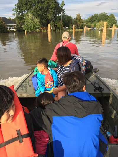 The Baton Rouge floods have displaced thousands. PHOTO: Joey Coco
