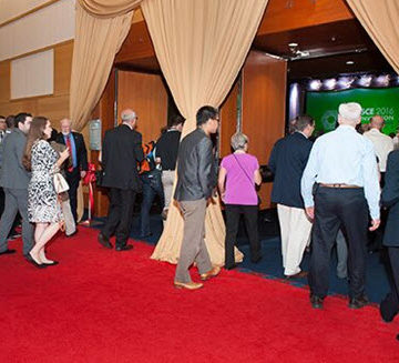 Convention attendees enter the hall to view a rough cut of Dream Big. Photo: Jim Tkatch for ASCE