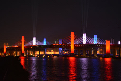 The Pearl Harbor Memorial Bridge in New Haven, CT. PHOTO: Binita Shakya