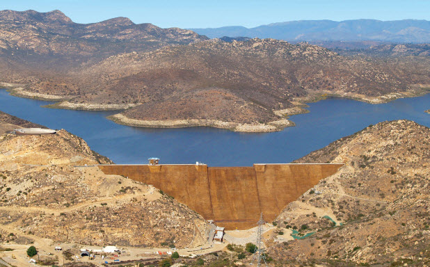 The San Vicente Dam and Reservoir is a crucial piece of the Emergency and Carryover Storage Project in San Diego.