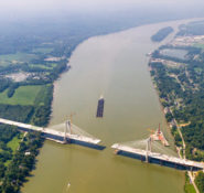 Ohio River Bridge aerial view (Photo Courtesy WVB East End Partners)