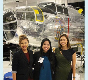Members of the Orange County YMF visit the Lyon Air Museum as part of a History and Heritage Night. Courtesy OC YMF