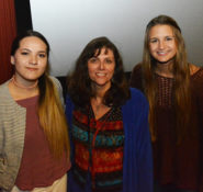 Dream Big Contest winner Marta Alvarez, middle, is joined by two YCE Inc. scholarship winners, Anahi Morelos, left, and Alexandra Alamillo.