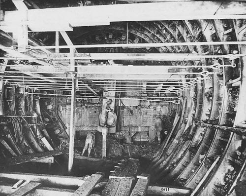 The Holland Tunnel under construction in 1923.
