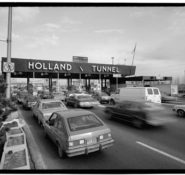 The Holland Tunnel connects New York City with Jersey City, NJ.