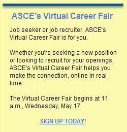 Virtual Career Fair sidebar