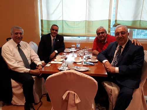 University of Illinois at Chicago professor Mustafa Mahamid recently visited the UAE Section officers. PHOTO: Elias Sayah
