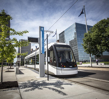 The Kansas City Streetcar has helped transform the downtown Kansas City area. PHOTO: HDR