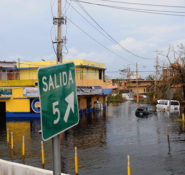 Flood waters remain high in Carolina, Puerto Rico, after Hurricane Maria slammed the island. PHOTO: Dept. of Defense