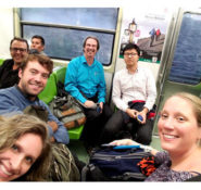 The IRD team travels via subway to its next meeting in Mexico. PHOTO: Allison Pyrch