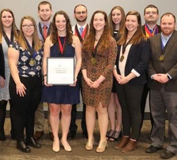 The Penn State team fared very well at the 2018 AEI Student Design Competition.